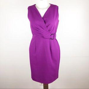 Calvin Klein Sz 6 Purple Sleeveless Midi Dress